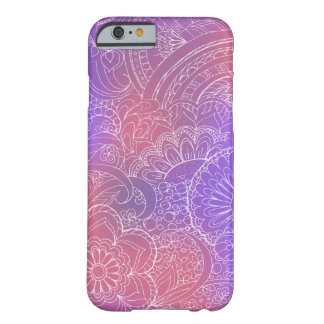 transparent white zen pattern violet gradient coque iPhone 6 barely there
