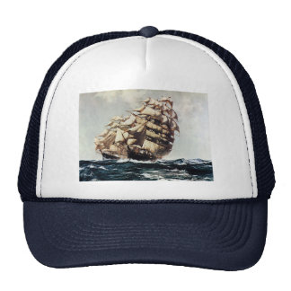 Transporation vintage, bateaux de tondeuse dans casquettes
