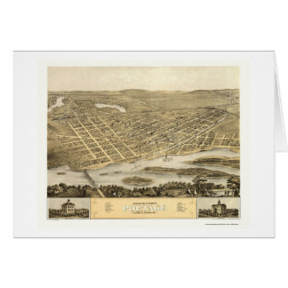 Transport, carte panoramique de WI - 1868