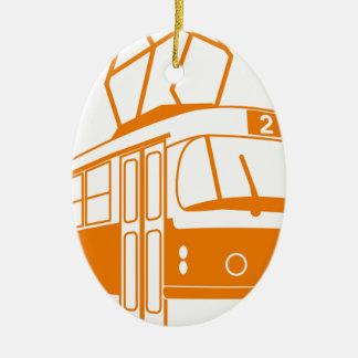 Transport de tramway électrique ornement ovale en céramique