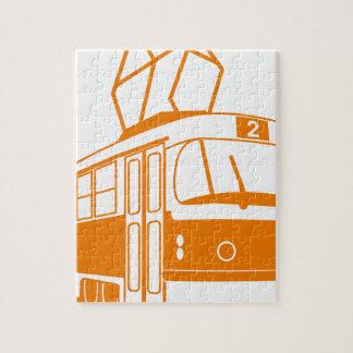 Transport de tramway électrique puzzle