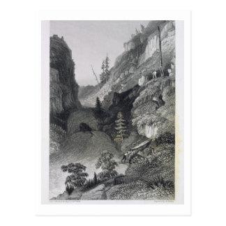 Transport en rivière de gelée, le 19 août 1833, carte postale
