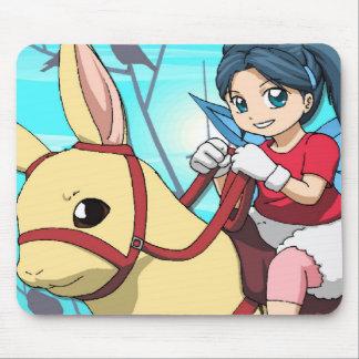 Transport féerique de Manga Tapis De Souris