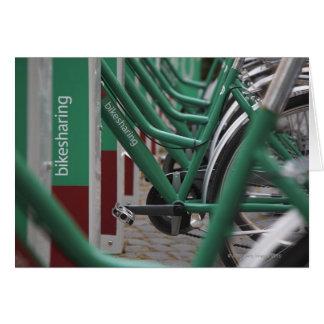 Transport vert de ville carte de vœux