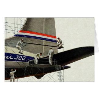 Transport vintage, entretien pour des avions carte de vœux