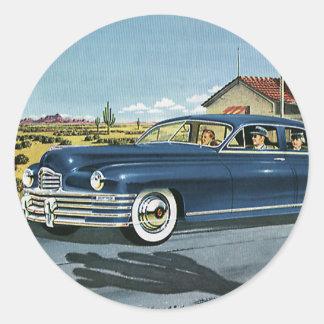 Transport vintage, station service de dernière sticker rond