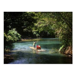 Transportant par radeau sur la rivière de Brae de Cartes Postales