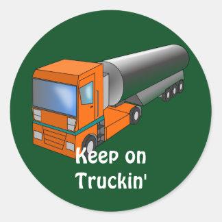 Transporteur lourd de camion-citerne aspirateur de autocollants ronds