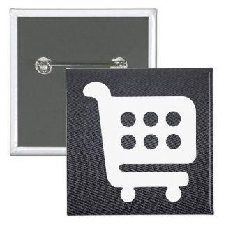 Transporteurs d'épicerie minimaux badge carré 5 cm