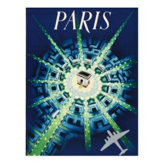 Transports aériens français vintages bleus de cartes postales