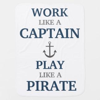 Travail comme un capitaine Nautical Nursery Baby Couverture Pour Bébé