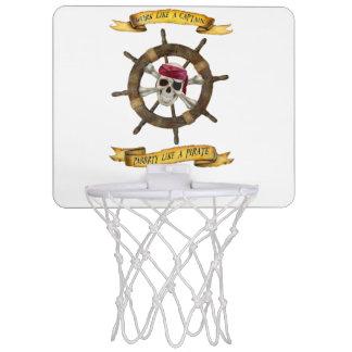 Travail comme un capitaine Party Like un pirate Mini-panier De Basket