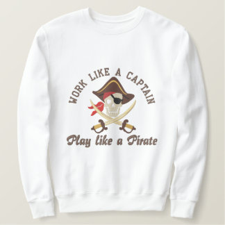 Travail comme une broderie de capitaine Play Like Sweat-shirt Brodé