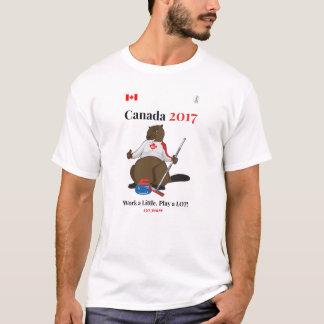 Travail de bordage du Canada 150 en 2017 T-shirt