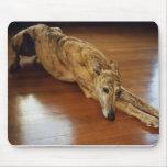 Travail de plancher de lévrier tapis de souris