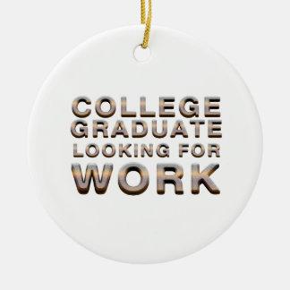 Travail de recherche licencié d'université de ornement rond en céramique