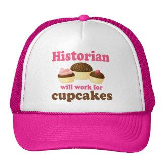 Travail drôle pour l'historien de petits gâteaux casquettes de camionneur
