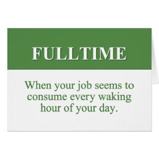Travail d'un emploi à plein temps (2) cartes