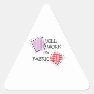Travaillera pour le tissu autocollants en triangle
