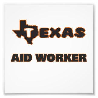 Travailleur d'aide du Texas Photos D'art