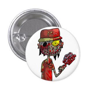 Travailleur de prêt-à-manger de zombi badge