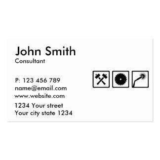 Travailleur en métal carte de visite standard