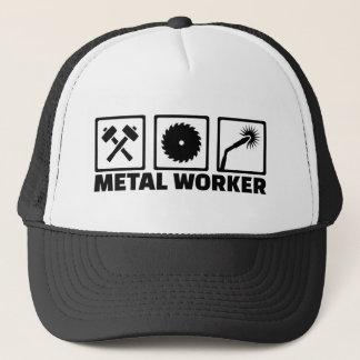 Travailleur en métal casquette