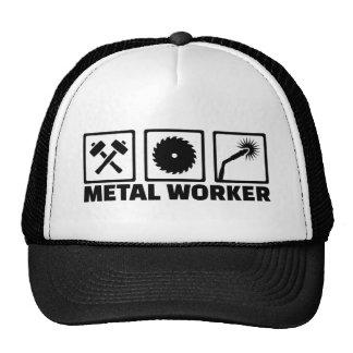 Travailleur en métal casquettes de camionneur