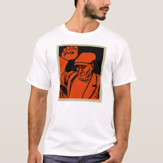 Travailleur fâché de rétro propagande vintage de t-shirt