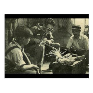 Travailleurs vintages carte postale