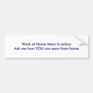 Travaillez à la maison la maman dans l'actionAsk j Adhésifs Pour Voiture
