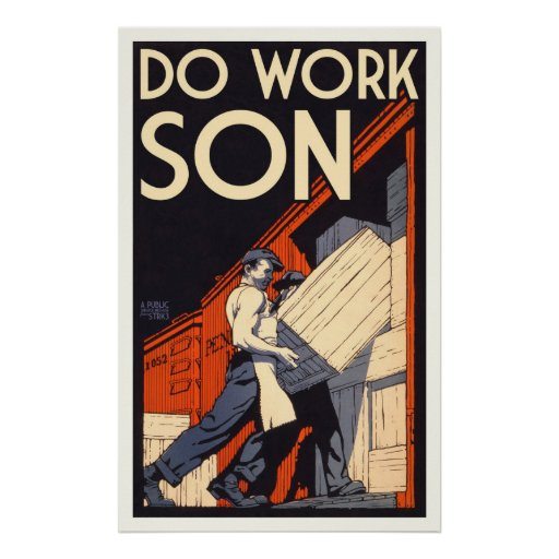 travaillez le fils poster