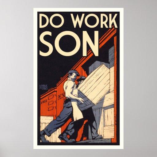 travaillez le fils posters