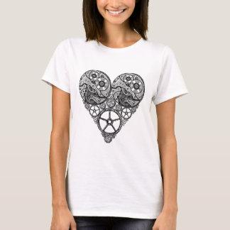 Travaux d'horloge de Steampunk et coeur de vitesse T-shirt