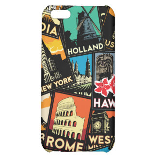 Travel posters retro vintage europe asia usa case for iPhone 5C