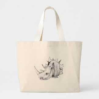Traverser principal de rhinocéros le mur grand sac