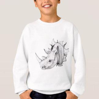 Traverser principal de rhinocéros le mur sweatshirt