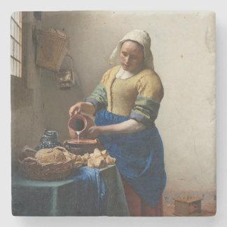 Trayeuse Johannes Vermeer Dessous De Verre En Pierre