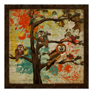 Tree Top Hoot Perfect Poster