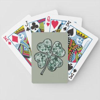 Trèfle 2 du congé quatre jeux de cartes