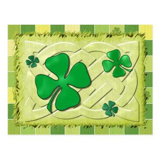 Trèfle celtique 3D irlandais Cartes Postales