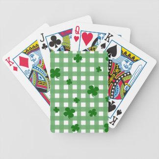 Trèfle chanceux cartes à jouer