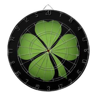 Trèfle chanceux de feuille de l'Irlandais quatre Jeux De Fléchettes