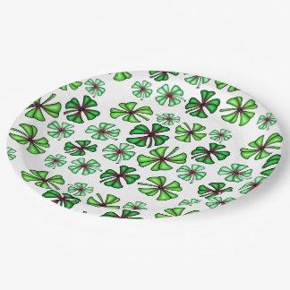 Trèfle chanceux de shamrock assiettes en papier