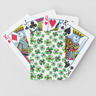 Trèfle chanceux de shamrock jeu de cartes