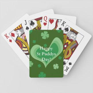Trèfle chanceux fait sur commande de shamrock de jeu de cartes