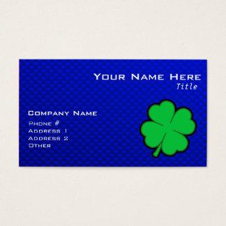 Trèfle de feuille du bleu 4 cartes de visite