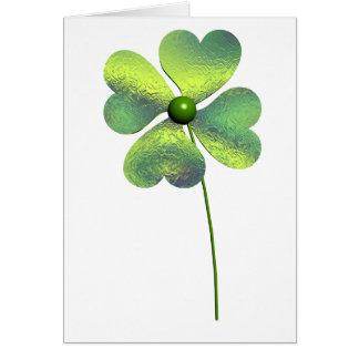 Trèfle de quatre feuilles carte de vœux