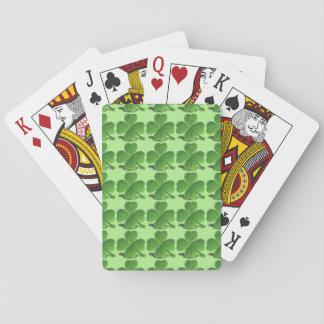 Trèfle de quatre feuilles cartes à jouer