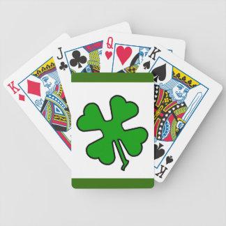 Trèfle de quatre feuilles (chanceux) jeu de poker